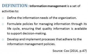 Definition of Information Management